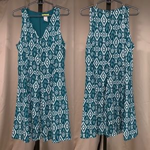 Teal Ikat A-Line dress from ModCloth